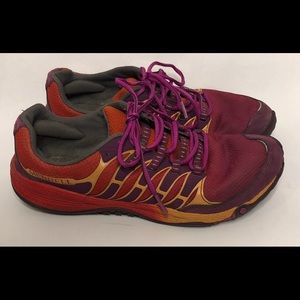 Merrell All Out Fuse trail running shoe. Size 9.